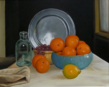 Still life with Pewter Plate